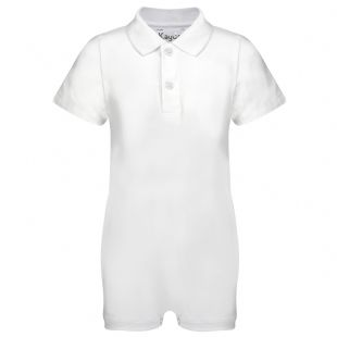 KayCey Super Soft Body Suit - Polo Shirt - White from